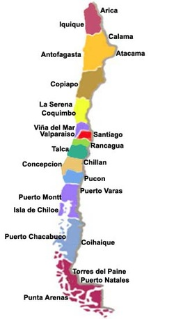 Map Of Natural Resources In Chile